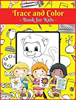 Trace and Color Book for Kids: Activity Book for Children, 20 Unique Designs, Perfect for Kids Ages 4-8. Easy, Large picture for drawing with dot instructions. Great Gift for Boys and Girls.