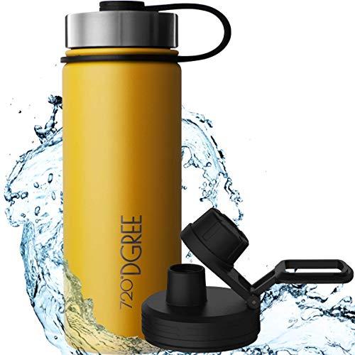 """720°DGREE Edelstahl Trinkflasche """"noLimit"""" – 710ml - Auslaufsicher, Kohlensäure geeignet, BPA-Frei - Isolierflasche mit Schraubverschluss für Kinder, Schule, Fitness +Gratis Sportdeckel"""
