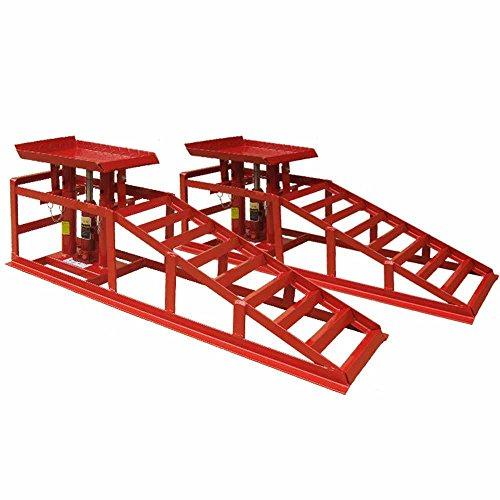 Deet® Hebebühne, leistungsstark, für Autos / Vans Rampen mit Wagenheber für bis zu 2Tonnen, Profi-Wagenheber, hydraulisches Set, Rot