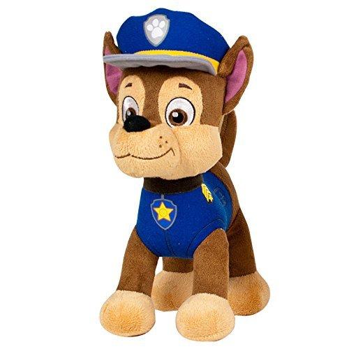 Patrulla canina (PAW PATROL) - Peluche personaje Chase, Pastor Aleman Policia (20cm de pie) Calidad super soft - Color Azul -