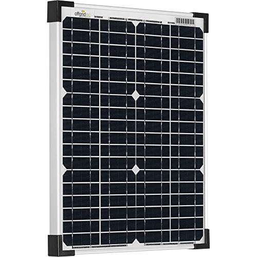 Offgridtec 20W 36V Solarmodul monokristallin ideal für 12V und 24V Batterieladung