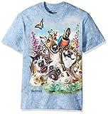 The Mountain Pet Selfie Adult T-Shirt, Blue, Large