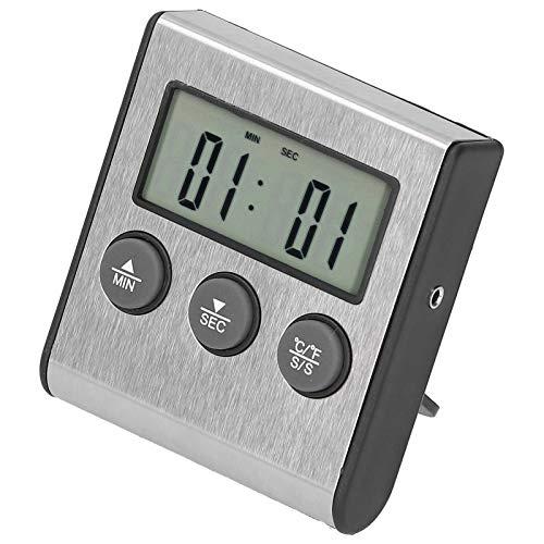 Termómetro digital para alimentos, sonda termómetro de cocina, fácil de leer, duradero para el hogar, fácil de instalar, cocina