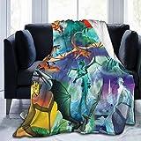 Soft Fleece Super Bed Blanket Wings Books of Fire Throw Lightweight Cozy Luxury Anti Pilling Blanket Microfiber Warm Flannel Blanket 50' x40