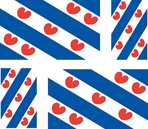 Akachafactory Stickers voor auto, motorfiets, koffer, PC, draagbaar, vlag Fries