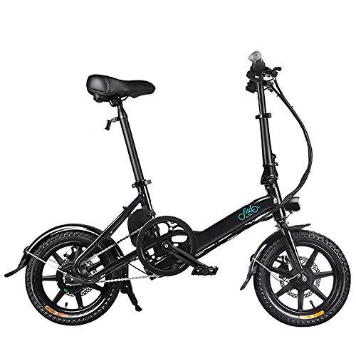 Bicicleta Eléctrica Plegable Bicicleta Plegable Señora, 250W Ligero Ajustable E-Bici con Los...