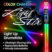 Light Stix LED Light Up Drumsticks (Color Change)| Changes Color Every Beat!