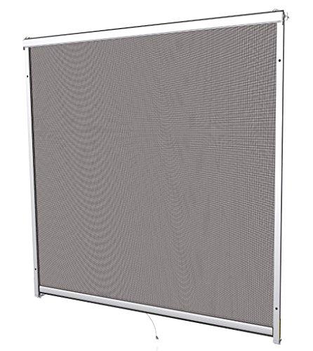 Windhager 03866 160x160 weiß Insektenschutz Rollo Fenster, 160 x 160 cm