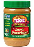 Teddie All Natural Peanut Butter, Smooth, 26-Ounce Jar (Pack of 3)