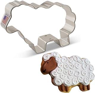"3/"" Sheep Lamb Cookie Cutter Tin Steel Easter Farm Barnyard Animal"