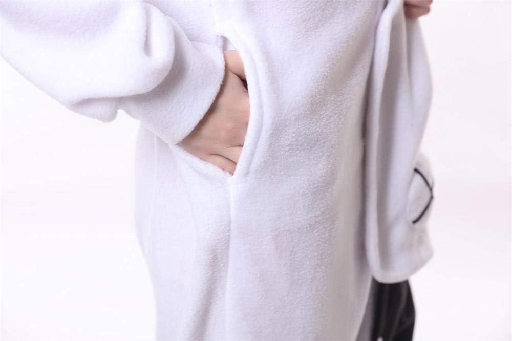 FZH Pigiama Inverno Flanella Coniglio Anime Kigurumi Pigiama Abbigliamento Donna da Uomo per la Notte Pigiama Tute con Cappuccio di Un Pezzo Kigurumi Adulto