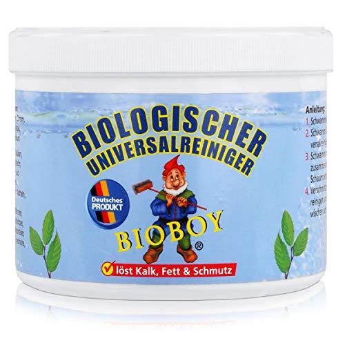 Bioboy Universalreiniger 800g inkl. Schwamm -Putzstein/Reinigungsstein, hochkonzentriert, für Keramik, Glas Küchenmöbel, Herdplatten, Spülen, Ceranfelder, Badewannen, Duschen, Kunstoffenster, Motorräder, hautverträglich, wohltuend und angenehm. Auch als Entkalker für Bad und Küche, organische Inhaltsstoffe # 92080024