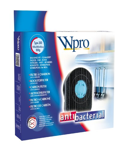 Wpro DKF42 Filtre de Hotte à Charbon DKF42 / Type 200 Diamètre: 195 x 207 mm Anti-Bactérien