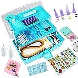 Quilling-Set, Quilling-Werkzeuge, Papier-Quilling-Set mit Aufbewahrungsbox Blaue Box