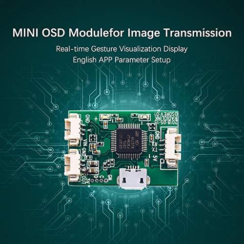 Lepeuxi Mini Módulo OSD para transmisión de imágenes Mini PIX Pixhawk Flight Controller Board RC Racing FPV Drone