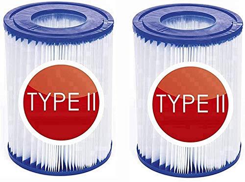 QWEWQE 2 cartuchos de filtro para piscina Bestway II, tamaño 2, filtro...