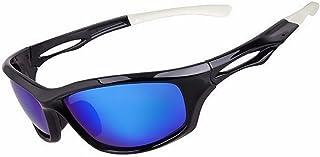 Wuxingqing - Gafas de sol deportivas Gafas de sol deportivas polarizadas para hombres TAC Lens Classic TR90 Conducción Ciclismo Correr Pesca Golf Unbreakable Frame Lentes polarizadas gafas de sol deportivas