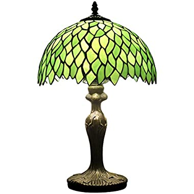 Tiffany style wisteria table lamp light S523 series 18 inch tall green shade E26