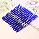 WOWOWO Bolígrafo de Gel de 12 Piezas, bolígrafos de Gel borrables mágicos creativos de 0,5 mm, Tinta Azul, papelería para Estudiantes de Oficina