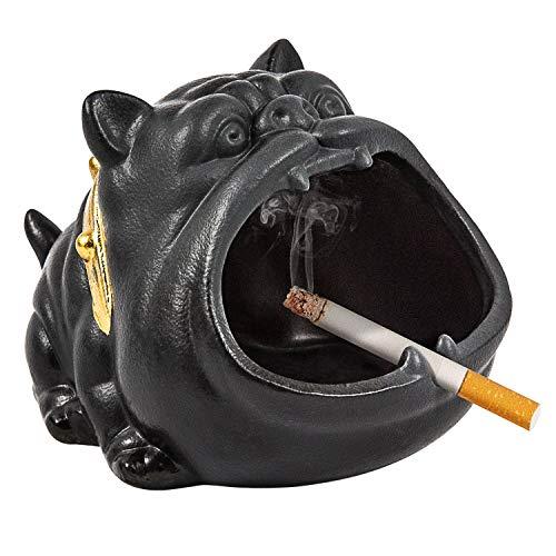 SEA or STAR Ceniceros de cigarrillos al aire libre, cenicero fresco para perros para decoración de patio, bonito regalo para hombres y mujeres