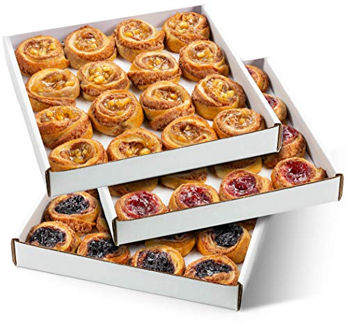 Fruit Danishes | Mini Cinnamon Buns Topped with Apple, Cherry or Blueberry | Delectable Bakery Dessert | Great for Parties & Holidays | 16 Pastries per Tray | 20 oz – Stern's Bakery (Variety Pack)