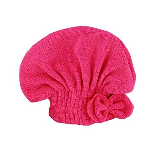ZARU Dry Mikrofaser Turban Schnell Haar Hüte Handtücher Bade (Pink)