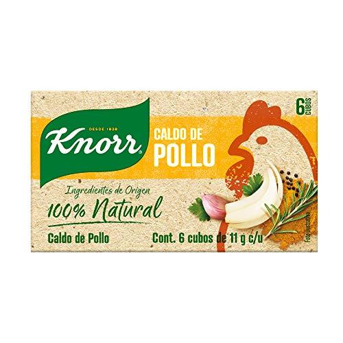 Knorr, KNORR Caldo 100% NATURAL 6 cubos (66gramos), 66 gramos