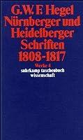Nurnberger Und Heidelberger Schriften 1808-1817