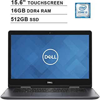 2019 Dell Inspiron 14 5000 2-in-1 15.6 Inch Touchscreen Laptop (Intel Core i3-8145U up tp 3.9GHz, 16GB DDR4 RAM, 512GB SSD, WiFi, Bluetooth, HDMI, Win10 Home, Black) (Renewed)