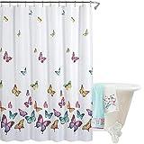 Duschvorhang Anti-bakterieller Textil Duschvorhang aus Stoff Wasserdichter Duschvorhang in der Größe 180 cm x 180 cm Polyester