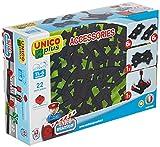 Unicoplus- Accessori Circuito Treno 22 Pezzi, Colore Grigio, 8539-0000