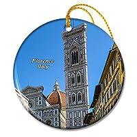 イタリアジョットの鐘楼広場フィレンツェクリスマスオーナメントセラミックシート旅行お土産ギフト