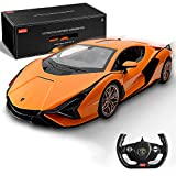 BEZGAR X RASTAR Officially Licensed RC Series, 1:14 Scale Remote Control Car Lambo Sián FKP 37 Electric Sport Racing Hobby Toy Car Model Vehicle for Boys Kids Teens and Toddler, Birthday Gifts