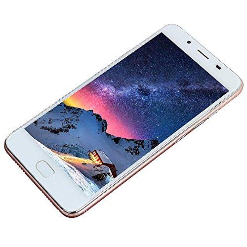 JiaMeng Moviles Libres Teléfono Inteligente 4G 5.5''Ultradelgado Android 5.1 Octa-Core 512MB+4G gsm WiFi Bluetooth de Dual Teléfono Celular Inteligente (Oro Rosa)