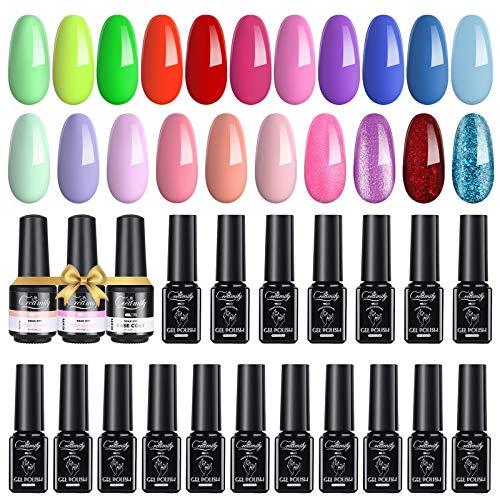Creamify Esmaltes Semipermanentes de Uñas en Gel-21 Colores