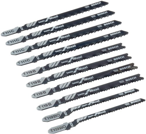 Bosch Professional Set con 10 hojas de sierra de calar Basic for Wood (para madera, accesorios de sierra de calar)