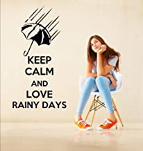 'Keep Calm and Love Rainy Days' - Lovely Vinyl Wall Sticker (Medium: 45cm x 9...