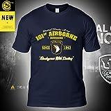 Été Armée Édition Hommes Shirt T-Shirt -101 Airborne Division d'impression Armée Fan Undershirt Manches Courtes été Casual Sweat Tops - Cadeaux Ados Blue-XL