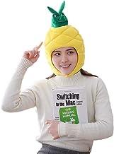 Chapéu de abacaxi de veludo com desenho de carnaval divertido, chapéu de abacaxi estilo tropical, adereços para fotos para...