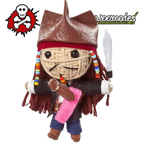 Voomates String Doll Voodoo-Puppen - handgemachte Sorgen-Püppchen Fingerpuppen - Die Handpuppen mit 81 Modelle - Pirate Captain (Pirat)