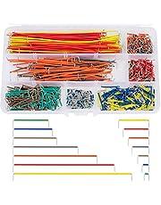 560 Piezas Cable de Puente Breadboard Jumper Wire Kit Dupont Cables Arduino Raspberry Pi Macho a Macho 14 Longitudes con Caja de Almacenamiento