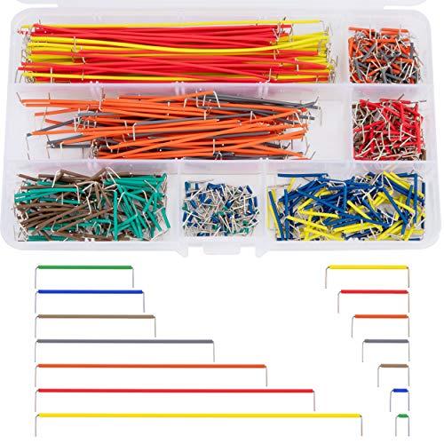 560 Stück Jumper Kabel Kit Breadboard Jumper Wires Male zu Male 14 Verschiedene Längen Sortiert mit Kunststoffbox