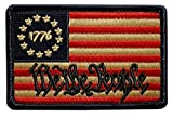 We The People Betsy Ross 1776 Flag Patch [Iron on Sew on -3.0 X 2.0 - WP9]