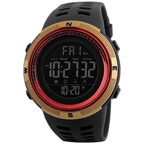 Uomo Orologio Digitale Sport Militare orologi Easy Read Orologio per studenti impermeabile classica cronometro Golden
