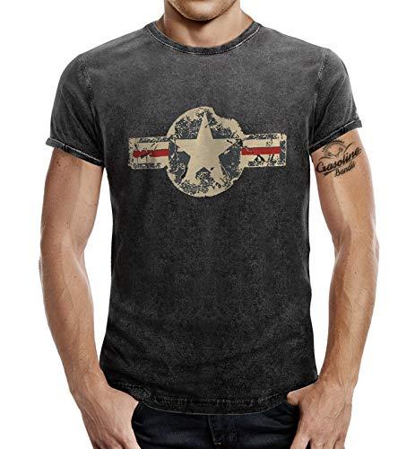 T-Shirt für den US-Army Fan im Washed Jeans Look USAF XL