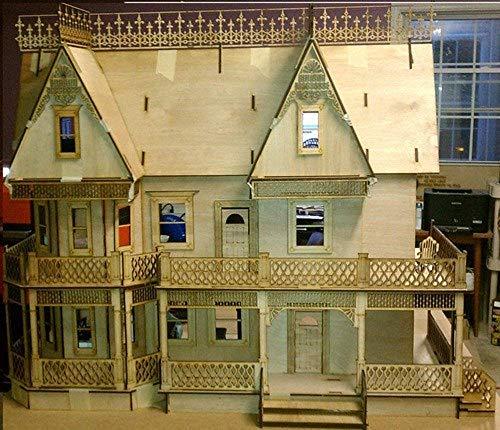 Melody Jane Puppenhaus Viktorianisch Lebkuchen Farmhaus 1:12 Maßstab Laserschnitt Flache Packung Set
