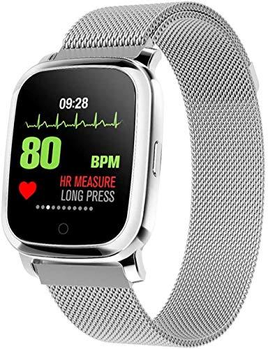Medición de la temperatura pulsera inteligente larga espera impermeable reloj deportivo contador de calorías contador paso podómetro caminar