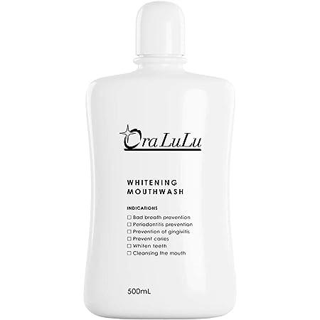 OraLuLu ホワイトニング マウスウォッシュ (歯を白くする/口臭ケア/虫歯/歯周炎/歯肉炎予防) 清涼剤成分配合 500ml 医薬部外品
