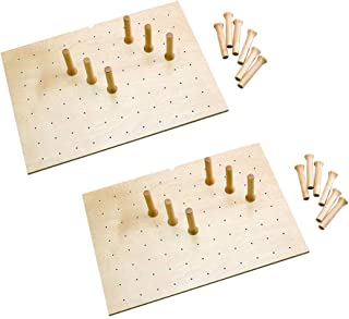Rev-A-Shelf 12 Peg Board System for 30 x 21 Inch Drawers, Natural Maple (2 Pack)