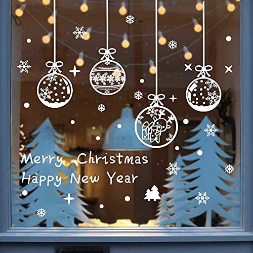 decorazioni natalizie negozi Vetrofanie Fiocchi di Neve per Natale Vetrofanie Natalizie per Finestre Decorazione Vetrina Adesivi per Finestre Negozi Elettrostatici in PVC Riutilizzabili Vetrata Decorazione Invernale